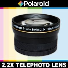 Polaroid Studio Series 2.2X High Definition Telephoto Lens, Includes Lens Pouch and Cap Covers For The Olympus Evolt E-30, E-300, E-330, E-410, E-420, E-450, E-500, E-510, E-520, E-600, E-620, E-1, E-3, E-5 Digital SLR Cameras Which Have Any Of These ( 35mm, 50mm) Olympus Lenses