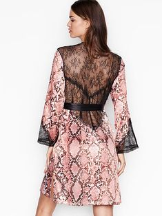 Browse sexy kimonos in lace and silk today at Victoria's Secret. Choose from short or long kimonos available in a variety of colors today at Victoria's Secret. Silk Kimono Robe, Sexy Gifts, Satin Lingerie, Short Kimono, Chantilly Lace, Lace Back, Sport Outfits, Dresses, Victoria's Secret