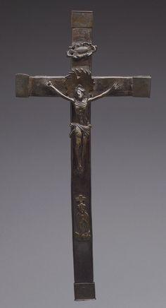 Crucifix, 16th century (?) Democratic Republic of Congo; Kongo peoples Brass, wood