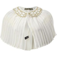Biba Pleated cape with art deco style beaded collar ($44) ❤ liked on Polyvore