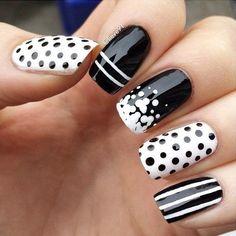 Polka Dots Nail Designs - 30  Adorable Polka Dots Nail Designs  <3 <3