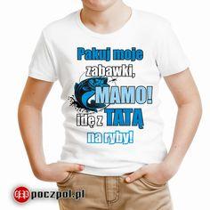 Pakuj moje zabawki mamo idę z tatą na ryby - koszulka dziecięca  #zabawki #ryby #wędkarstwo #ryba #rybak #wędka #koszulka #koszulkadziecięca #tshirtprinting #tshirts #tee #poczpol #dziecko #dladziecka Cringe, Oxford, Mens Tops, T Shirt, Tee, Oxfords, Tee Shirt