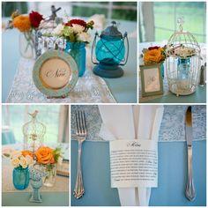 Backyard Modern Jewish Wedding//modern jewish wedding reception_table decor