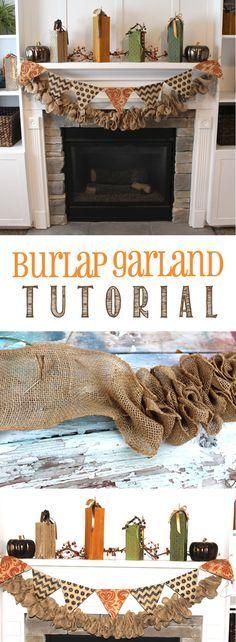 Burlap Garland Tutorial found on www.thekusilife.com