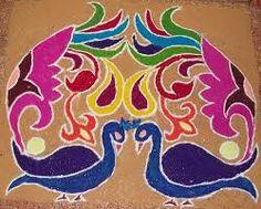 Rangoli es una tradición Hindú para dar Bienvenida a los Dioses. Rangoli, porque te extraño y te doy la bienvenida siempre. Tu me das buena energía. Nuestras vibraciones se ecualizaran. Te amo, mi rangoli.