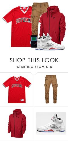 """Deonte"" by og-kinghenry15 ❤ liked on Polyvore featuring Champion, G-Star, NIKE and Apple"