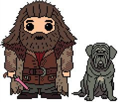 ~~Cross stitch: Harry Potter: Rubeus Hagrid & Fang~~