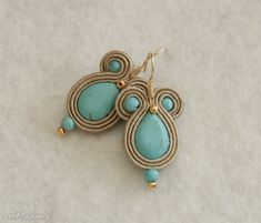 kolczyki sutasz z turkusem. $12 Earrings, Jewelry, Ear Rings, Stud Earrings, Jewlery, Jewerly, Ear Piercings, Schmuck, Jewels
