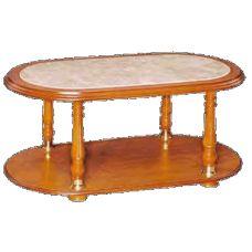 Mesa de centro de linhas clássicas. Madeira disponível em várias cores.   Características Madeira e outros compostos. Linhas clássicas. Com mármore.