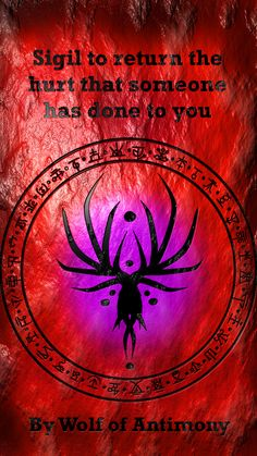 Sigil created by wolf of antimony Wiccan Spell Book, Wiccan Spells, Magic Spells, Magick, Witchcraft, Sigil Magic, Magic Symbols, Demon Summoning Spells, Wicca Recipes