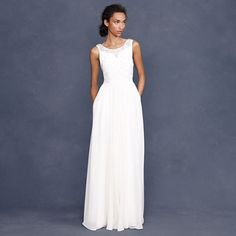 Collection crystalline gown - J Crew - would totally rock this with a long-sleeved lacy high-turned-up ruffle bolero