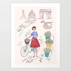 Lovely Paris Art Print by Epoque Graphics - $16.00 http://society6.com/epoquegraphics/Lovely-Paris_Print#1=45