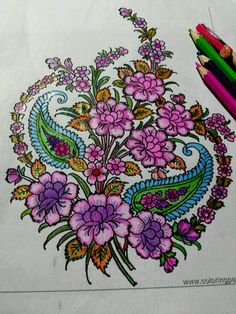 Flowers adult coloring pages