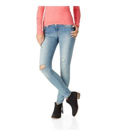 Aeropostale Womens Lola Jegging Skinny Fit Jeans >>> This is an Amazon Affiliate link. Click image to review more details.