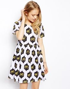 ASOS Throw On Dress in Elephant Print