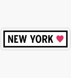 Pegatina New York