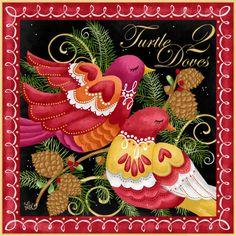 12 days of christmas 2 turtle doves | LoriLynn Simms Twelve Days of Christmas