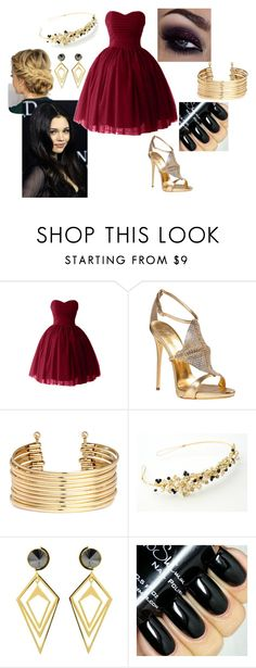 """""""Marissa, Auradon Party"""" by paisely099 ❤ liked on Polyvore featuring Giuseppe Zanotti, H&M, Sarah Magid and disneydescendants"""