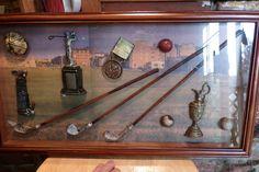 golf office decor. Vintage Golf Shadow Box, Décor, Office Golfers Gift, Gift Decor