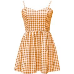 Gingham strappy sweetheart smock sundress,cami dress, babydoll dress,... ($35) ❤ liked on Polyvore featuring dresses, vintage sundress, strappy cami, fit and flare summer dresses, vintage dresses and gingham dress