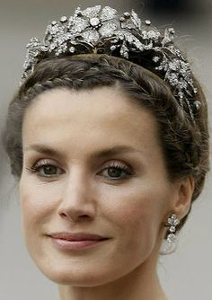 Mellerio Floral Tiara worn by HRH The Princess of the Asturias