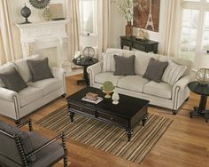 The Milari Sofa, Love Seat, and Accent Chair collection brings the beauty of vintage casual style to life.