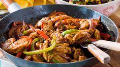 Kryddiga kyckling fajitas recept