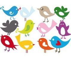 INTERIEURSTICKERS met een afbeelding van gekleurde vogels