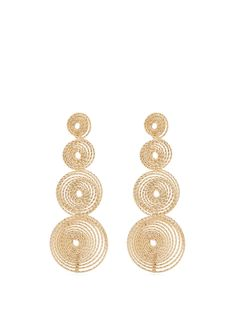 Rosantica Soffio spiral-drop earrings