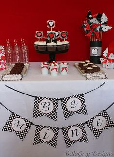 "BellaGrey Designs ""Be Mine Valentine"" party collection"