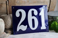 Enamel House Number 5.9 x 7.9 by enamelsign on Etsy