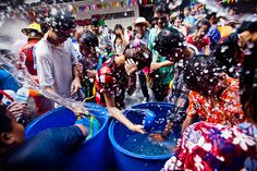 Participate in the world's biggest water fight during Thailand's New Year's festivities (Songkran).