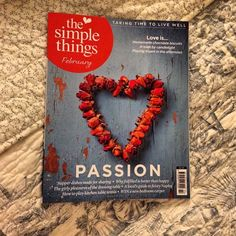"""""""Tonight's bed time reading treat #simplethings #magazine"""" @angiev1n, instagram"""