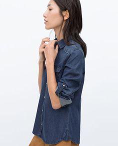 Dark Faded Denim Shirt from Zara R599,00