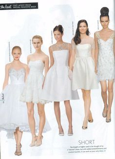 Encore by Watters Bobbi Dress. Style 5858E. (Second from Right). Featured in The Knot Spring 2014 issue.