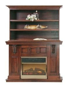 Amish Legacy Electric Fireplace With Insert And Bookcase