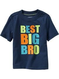 """Best Big Bro"" Tees for Baby Regular Price $8.94  Only at Oldnavy.com"
