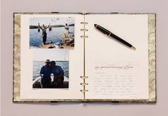 Why just get a book where people write their names for a memorial service... this book is designed so you can add memory cards and photos, now it's truly a book to treasure.