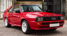 Audi built 200 road-going Sport Quattros to homologate its Group B rally car in the 80s, though there's much debate as to whether that many were actually delivered.  The Sport Quattro looks awkward from whichever angle you look at it...