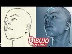 dibujo de la cara en escorzo dificil - YouTube