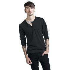 Urban Classics Långärmad tröja »Basic Henley« | Köp i Sweden Rock Shop | Mer Basplagg Longsleeves finns online ✓ Oslagbara priser!