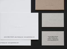 stationery and identity design for Giles Dule / designed by Shaz Madani