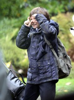 Jared Gilmore on the set of 'Once Upon a Time' - could this kid be any cuter??