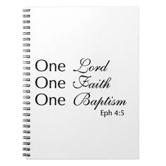 Lord Faith Baptism Notebooks