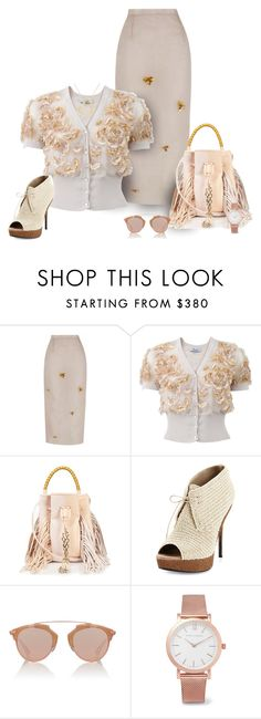 """""""Soft and Swirly"""" by michelletheaflack ❤ liked on Polyvore featuring The 2nd Skin Co., Blumarine, Sara Battaglia, Burberry, Christian Dior, Larsson & Jennings and Spring"""
