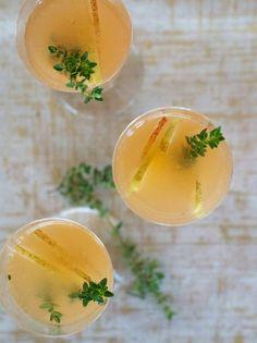 Festive Fall Caocktails-Pear & Thyme Fizz {via Camille Styles}