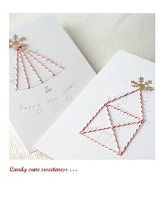hand sewn Christmas cards for Christmas 2010 - 2011 made by me ~ still adore them! :*)
