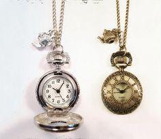 Alice in Wonderland Teapot Pocket Watch Necklace by VFJewellery