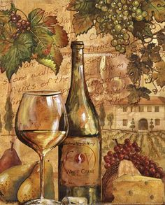 Wine Collage II - mini Fine-Art Print by Gregory Gorham at UrbanLoftArt.com