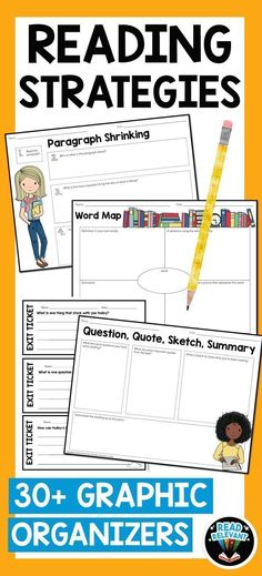 This packet contains activities that will set students up for success before, during, and after reading in any content area. Designed to scaffold reading comprehension of higher-level texts for all students, this packet contains more than 30 strategies an Reading Lessons, Writing Lessons, Reading Resources, Reading Activities, Reading Skills, Science Lessons, Science Ideas, Language Activities, Literacy Activities